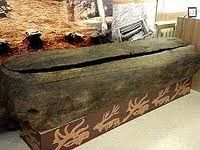 A Pazyryk coffin most of which are found on the Ukok Plateau.  First discovered in 2007.