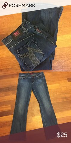 Rock Paper Sexy jeans. Sz: 15. Double stitched, dark denim. Great used condition. Rarely worn. Lots of stretch to them.30% off bundles of 2 or more listings from my closet😊. Jeans
