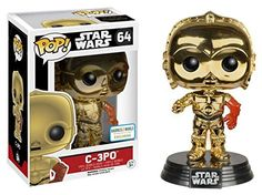 Buy Star Wars: The Force Awakens Gold Chrome Funko Pop! Vinyl from Pop In A Box UK, the home of Funko Pop Vinyl subscriptions and more. Star Wars Characters, Star Wars Episodes, Pop Vinyl Collection, Funko Pop Star Wars, Episode Vii, Gold Chrome, Pop Vinyl Figures, Nerd Geek, Funko Pop Vinyl