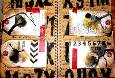 Ghis - Art journal tag sur fond texte... Art Abstrait, Collages, Journal, Collage
