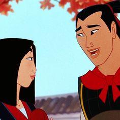 BD Wong and Ming-Na Wen as the voices of Shang & Mulan from Mulan (1998) Disney Pixar, Disney Icons, Arte Disney, Disney Memes, Disney Films, Disney And Dreamworks, Disney Magic, Disney Art, Disney Characters