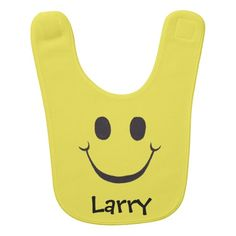 Yellow Happy Face - Baby Bib