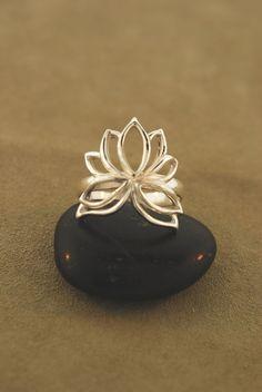 Wrapped Lotus Ring