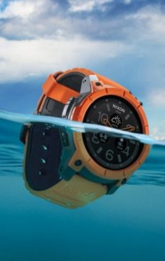 "The Nixon Mission smartwatch is billed as the ""world's first ultra-rugged action sports smartwatch."""
