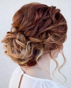 penteados meio presos casamento soltinhos penteados de Ulyana Aster