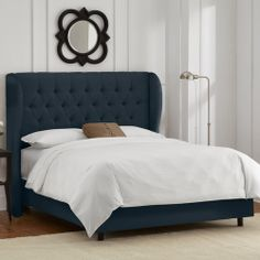Tufted Wingback Upholstered Bed by Skyline Furniture