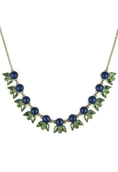 Navy Jewel Junebug Necklace