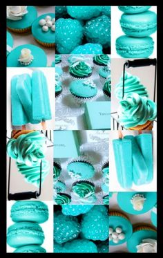 Tiffany Blue Desserts