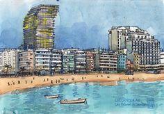 Las Canteras beach, Las Palmas | por nina drawing