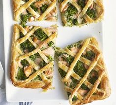 Salmon & broccoli lattice tart recipe - Recipes - BBC Good Food