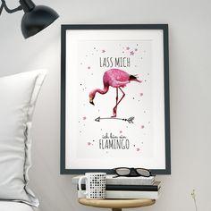 Illustrationen - A3 Print Druck Poster Flamingo Spruch witzig p30 - ein Designerstück von IlkaParey bei DaWanda