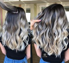 Hair Color Trends In 2019 Before & After: Highlights On Hair + Tips;Trendy Hairstyles And Colors Women . - Hair Color Trends In 2019 Before & After: Highlights On Hair + Tips;Trendy Hairstyles And Colors Women Hair Colors; Best Ombre Hair, Ombre Hair Color, Hair Color Balayage, Hair Highlights, Color Highlights, Dark Roots Blonde Hair Balayage, Black Hair With Blonde Highlights, Bright Blonde, Brunette Color