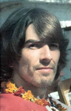 George in India at Maharishi's retreat