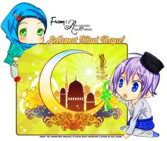 Muslim Manga and Anime Drawings Selamat Hari Raya, Chibi Boy, Eid Greetings, Eid Cards, Boy Drawing, Chibi Characters, Photoshop Cs5, Pet Shop, Manga