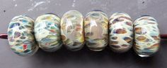 Handmade Lampwork  Boro Glass Bead Set  Smoke by silverfishdesigns, $24.00