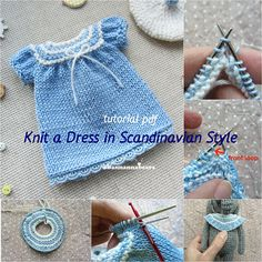 Doll dress pattern Knit doll dress tutorial Knit toy pattern