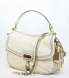 Coach Chelsea Flagship Leather Dowel Flap Bag 17782 (Ivory)