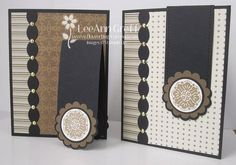 Bookmark card using Two Tags & Tasteful Trim dies with Mocha Morning dsp