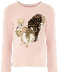 Silvia Squirrel Sweat Shirt | Pink | Monsoon