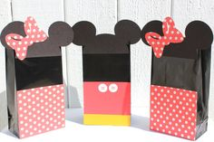 Minnie & Mickey Mouse Treat Bags by RockPaperScissorsCPG on Etsy, $18.00