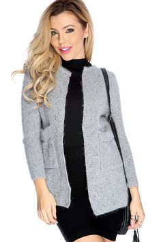 #FashionVault #kandy kouture #Women #Tops - Check this : Grey Long Sleeve Open Mo Hair Cardigan for $34.99 USD instead of $9.99 #OnSale