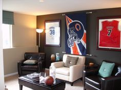 Man cave. I want to create one of these for my Hub one day. : ) --Beba