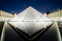 The Louvre Pyramid. Paris, France