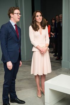 Catherine, Duchess of Cambridge and Nicholas Cullinan visit the 'Vogue 100: A Century Of Style' exhibition.(Photo by Ian Gavan - WPA Pool/Getty Images)                                     via @AOL_Lifestyle Read more: http://www.aol.com/article/2016/05/05/kate-middleton-gets-new-younger-hairdo/21370928/?a_dgi=aolshare_pinterest#slide=3884495|fullscreen