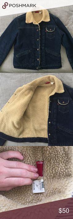 Vintage Sherpa Lined Levi's denim jacket! Beautiful Levi's Sherpa lined Jean jacket. Vintage and in great condition. Levi's Jackets & Coats Jean Jackets