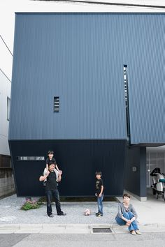 Small Box Home with Black Metal Facade in Japan