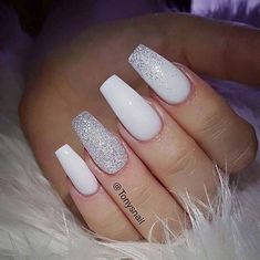 Nail Art Ideas For Coffin Nails All Powder White Easy Step-By-Step Design F