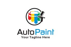 Auto Paint Logo Template by gunaonedesign on @creativemarket