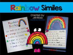 The Teachers' Cauldron: Rainbow Similes {Freebie}