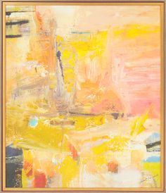 An #abstract #happy #yellow #art on canvas can brighten up a room indeed | KA Discoveries