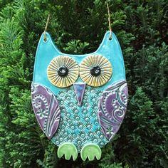 Handmade porcelain gift owl