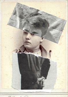 paper on vintage postcard