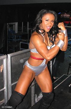 Tanji Johnson when she was an American Gladiator http://hubpages.com/sports/the-top-female-fitness-competitors