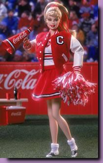 2000-Barbie Coca Cola Cheerleader - I have this one....