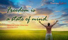 #motivationalquoteoftheday -  #freedom #energymatrixbyharpreetkaurkandhari #energymatrix9