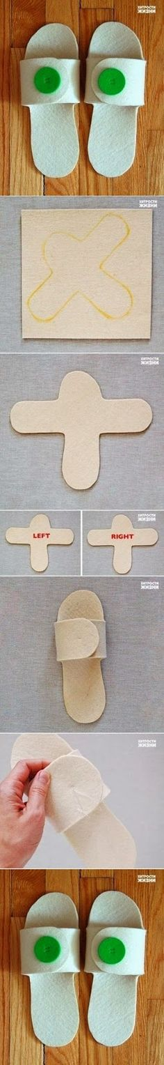 How To Make Guest Slippers