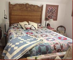 """Here's a linky party on Quiltville called """"What's on Your Bed?"""" -- 82 links to what's on quilters' beds. It'd better be quilts, right?"""
