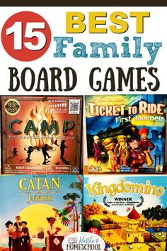 15 of the best family board games and card games that you should add to your game collection! All are so much fun and have great replay value! Best Family Board Games, Family Boards, Board Games For Kids, Family Games, Family Activities, Games To Play, Therapy Activities, Alone Game, Clue Games