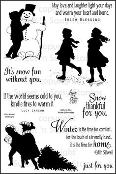 Winter Silhouettes Clear Stamp Set - Sweet 'n Sassy Stamps