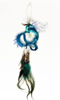 Turquoise Dragon Dreamcatcher View I by TheRedMeadows