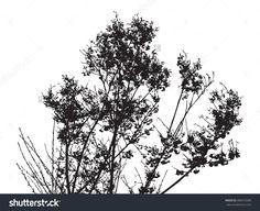 Full Bloom Sakura Tree Vector Silhouette (Cherry Blossom) - 406473580 : Shutterstock