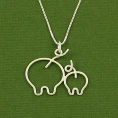 Pig Necklace Mother and Piglet Mother and Baby by Dragonfly65, $62.00