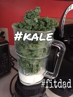 Getting my greens. #kale #fitdad #shakeology #smoothie