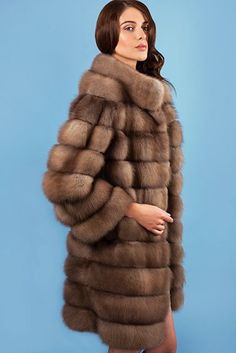 Dyed Sable Fur Coat