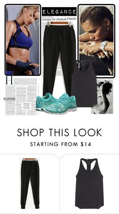 """""""romwe"""" by mer-jem ❤ liked on Polyvore featuring Y-3 Sport and adidas"""