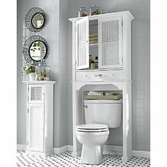 Bailey Space Saver and Cabinet from Through the Country Door® Large Drawers, Downstairs Bathroom, Bathroom Interior, Bathroom Ideas, Bath Decor, Guest Bath, Adjustable Shelving, Space Saver, Home Appliances